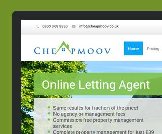 Cheapmoov - Online Lettings Portal Website Design