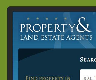 Property Land Estate Agents - Estate Agency Website Design