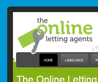 The online letting agents Website design