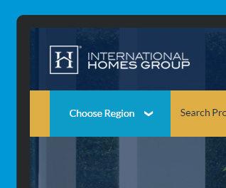 International Homes Group - Bespoke Property Web design