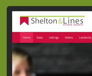 Shelton and lines - website design