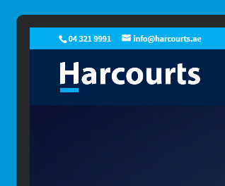 Harcourts Dubai - Estate Agent Web Design