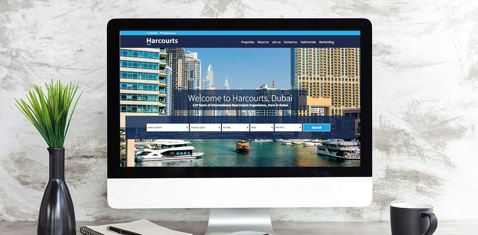 Harcourts estate agency website design