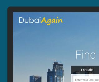 Dubai Again - Property Portal website design