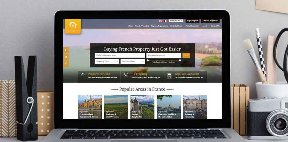 My French House Property portal website design