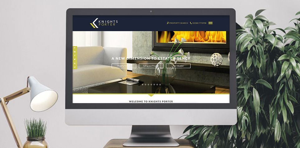 Knights porter estate agency website design