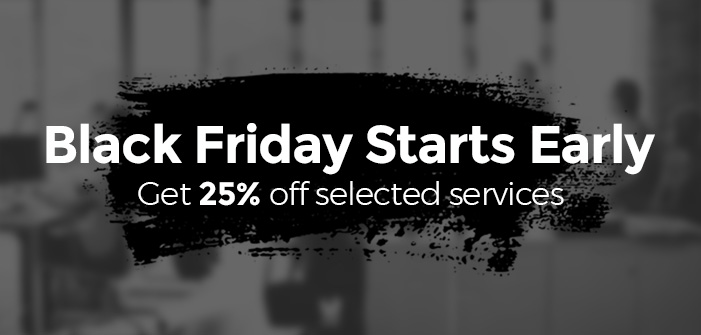 25% Off Early Black Friday Deals