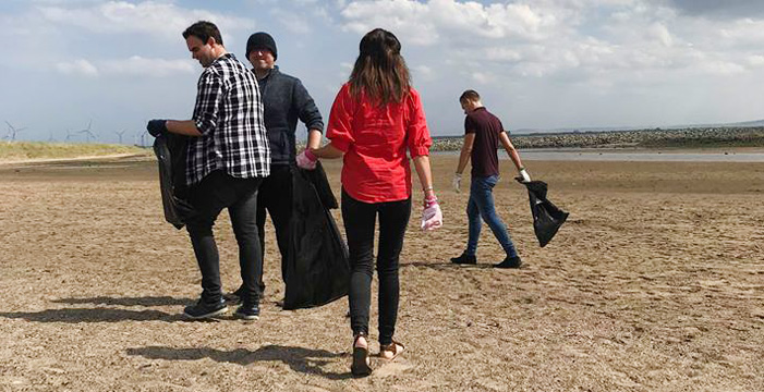 Litter picking blue lagoon beach 3