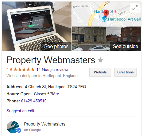 Property Webmasters Google Review