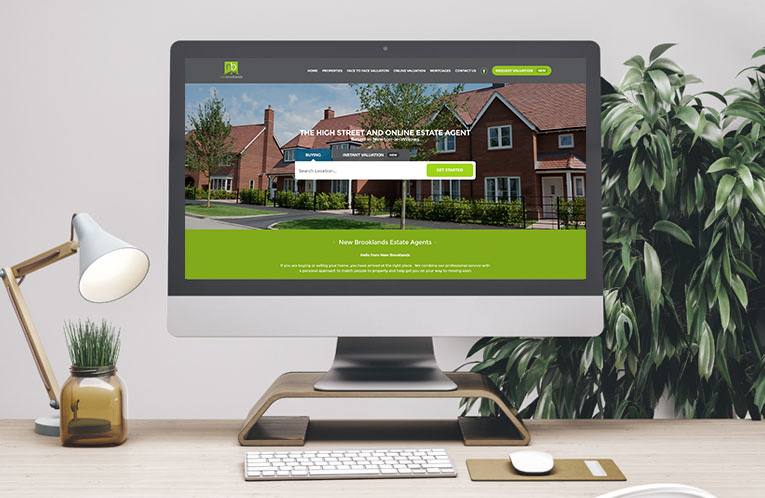 New Brooklands Estate Agents Web Desgin