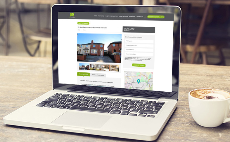 New Brooklands Estate Agents Web Development